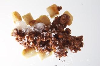 polenta gnocchi and ragu