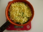 SPRINKLE GRATED EMMENTAL OVER THE KALE. I DIVIDED THE RECIPE INTO INDIVIDUAL GRATIN DISHES.