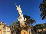 Christoper Columbus is the local hero.