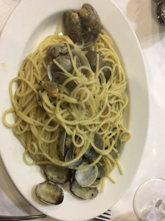 Spaghetti alla vongole, you just have to have one when you are here.