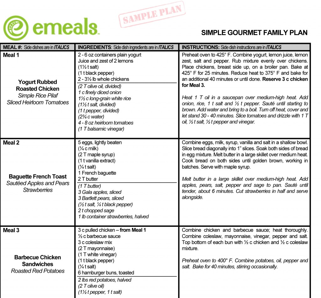 sample family meal plans - April.onthemarch.co