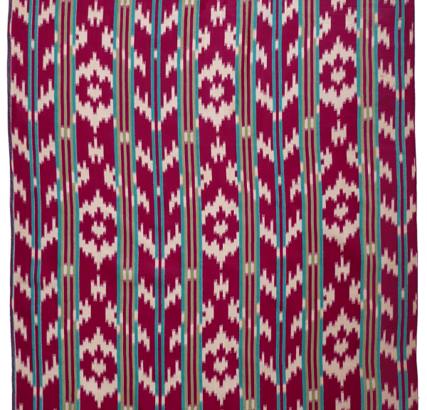 Faux-ikat Cotton Cloth Vfotnb-103 Uzbekistan