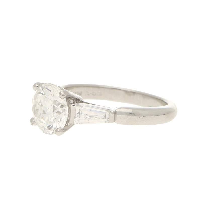 Asprey Diamond Solitaire Engagement Ring Platinum