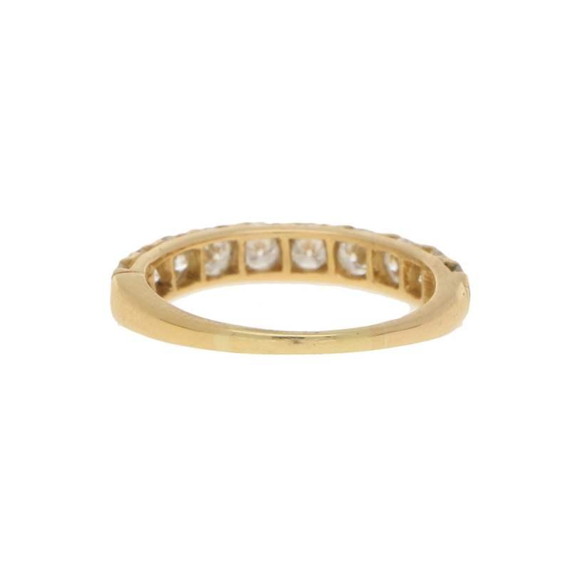 Oscar Heyman 1.30ct Diamond Half-Eternity Ring in Yellow Gold