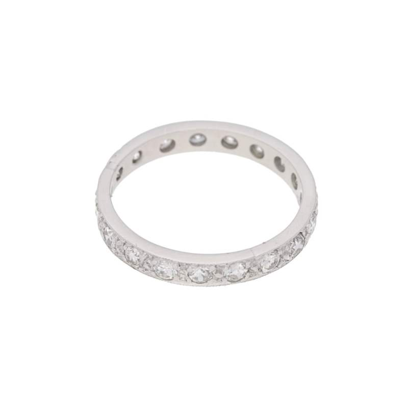 Diamond grain set platinum eternity ring