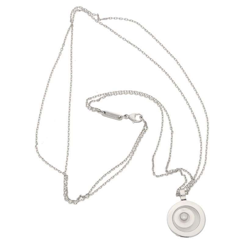 Chopard 'Happy Spirit' diamond pendant on Chopard chain
