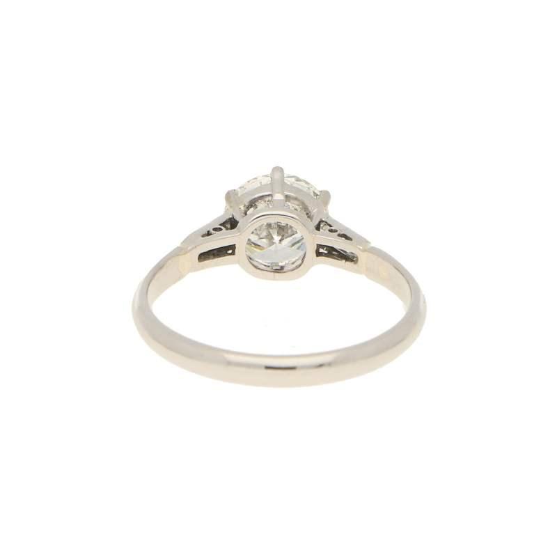 1.18ct Old European Brilliant Diamond Solitaire Ring in Platinum