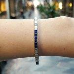 Tiffany & Co.Sapphire and Diamond Line Bracelet
