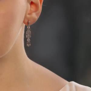 Art Deco style chandelier drop earrings