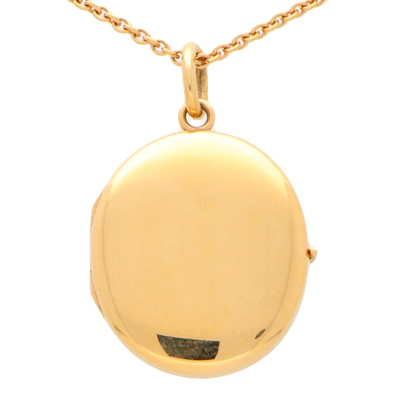 Rose Gold Locket in Solid 18K Gold