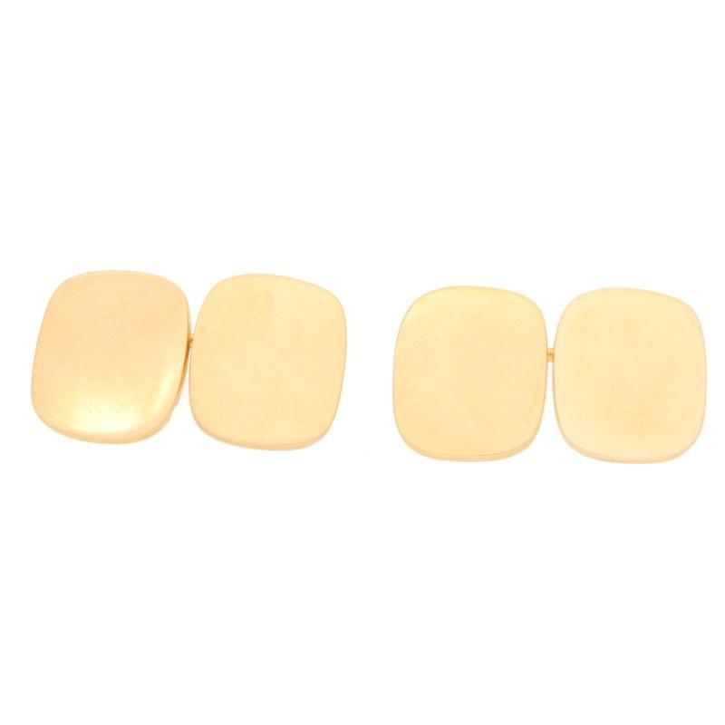 Cushion-Shape Cufflinks in 14kt Yellow Gold