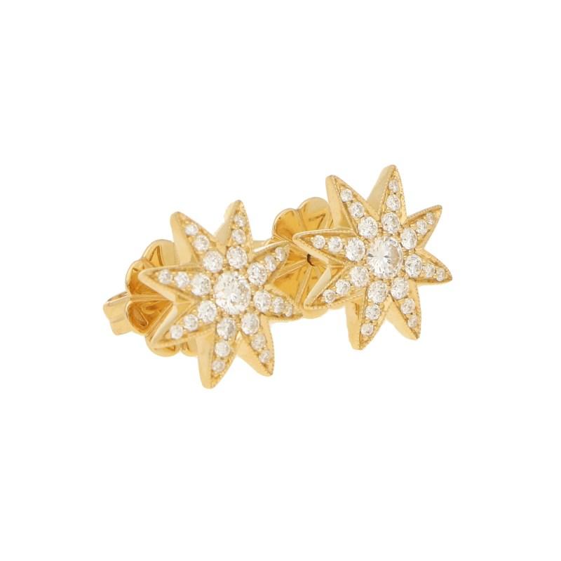 Diamond Star Stud Earrings