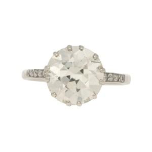 3.95ct Diamond Single Solitaire in Platinum