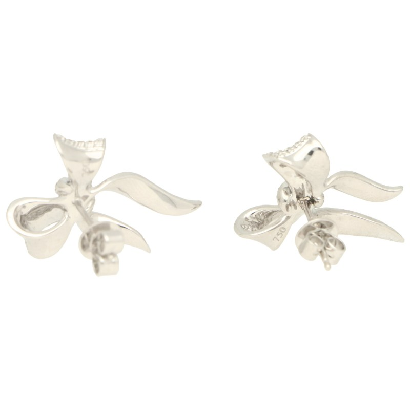 Diamond Bow Stud Earrings