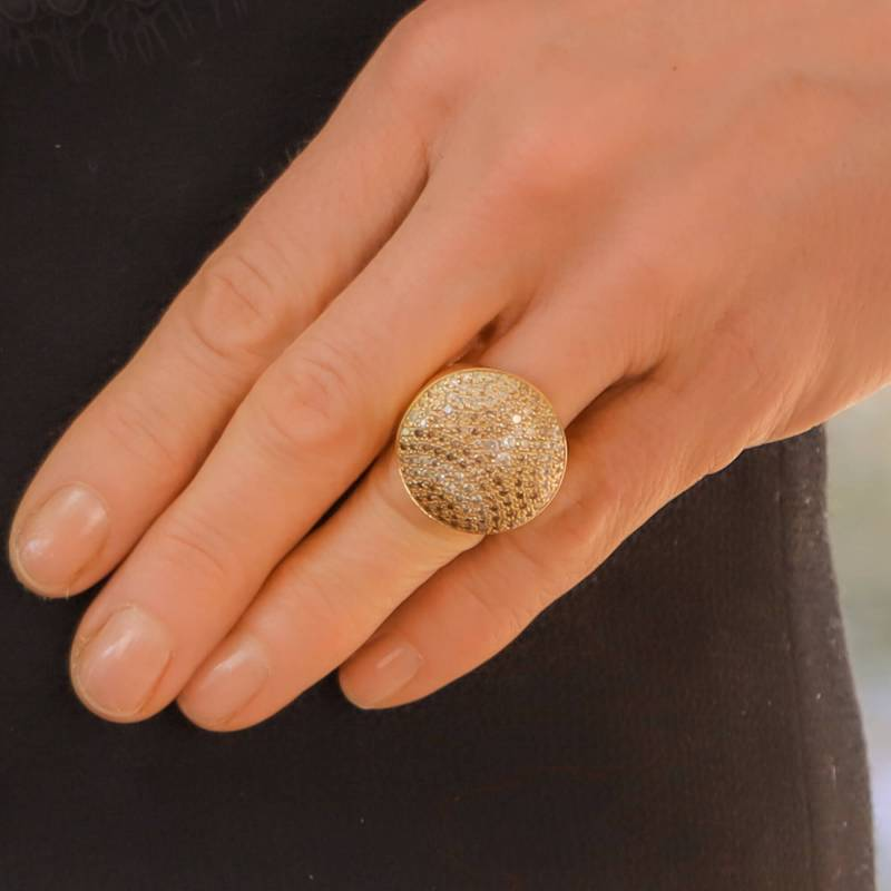 Vintage Cartier Jeton Sauvage Diamond Cocktail Ring
