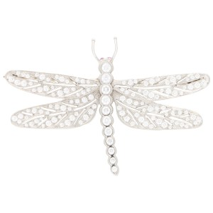 Diamond and Ruby Dragonfly Brooch