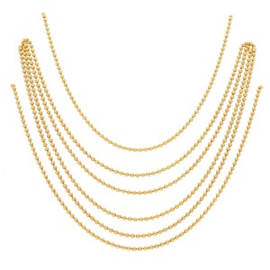 Vintage Cartier Six Strand Draperie Necklace