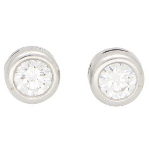 Solitaire Diamond Stud Earrings 0.65ct each