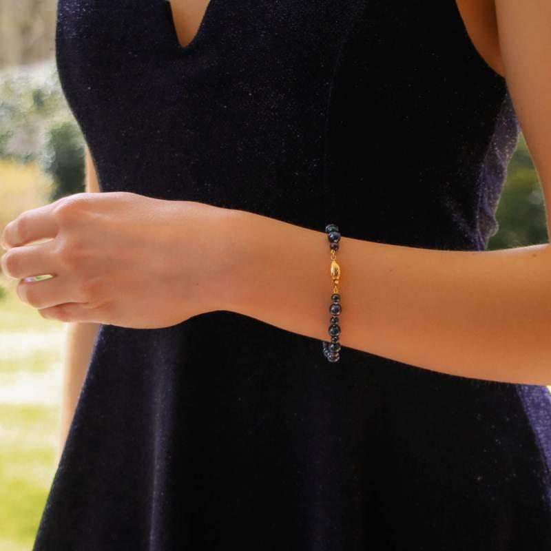 Cultured Black Pearl Strand Bracelet
