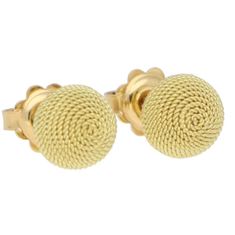 Woven Dome Stud Earrings