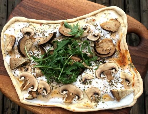 Flammkuchen gesund healthy vegetarisch
