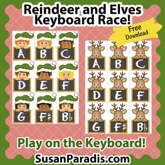 Reindeer and Elves Keyboard Race