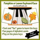 Pumpkin or Leaves Keyboard Race