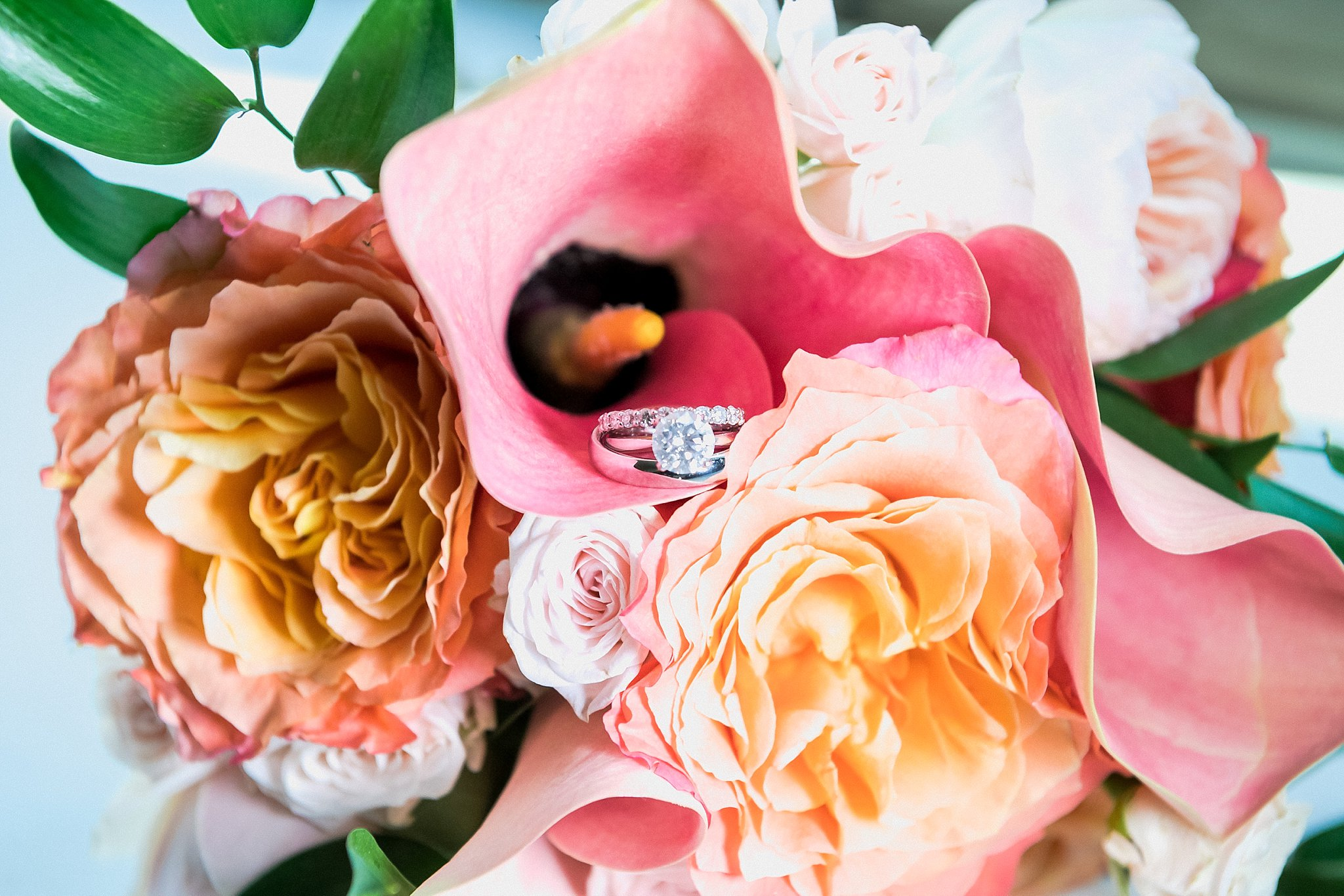Bride Ring with a bouquet