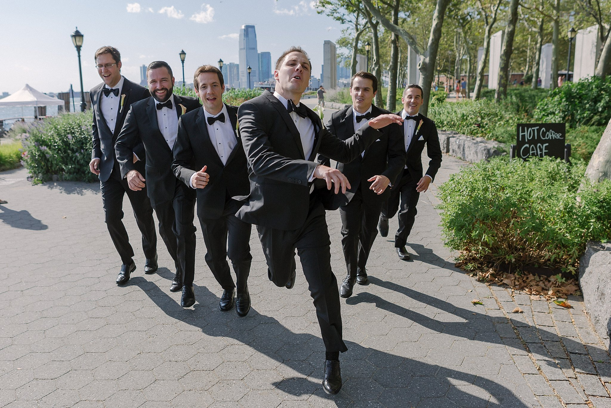 Groom and Groomsmen Fun Shoot during Susan Shek Wedding Photography in New York City, NY.