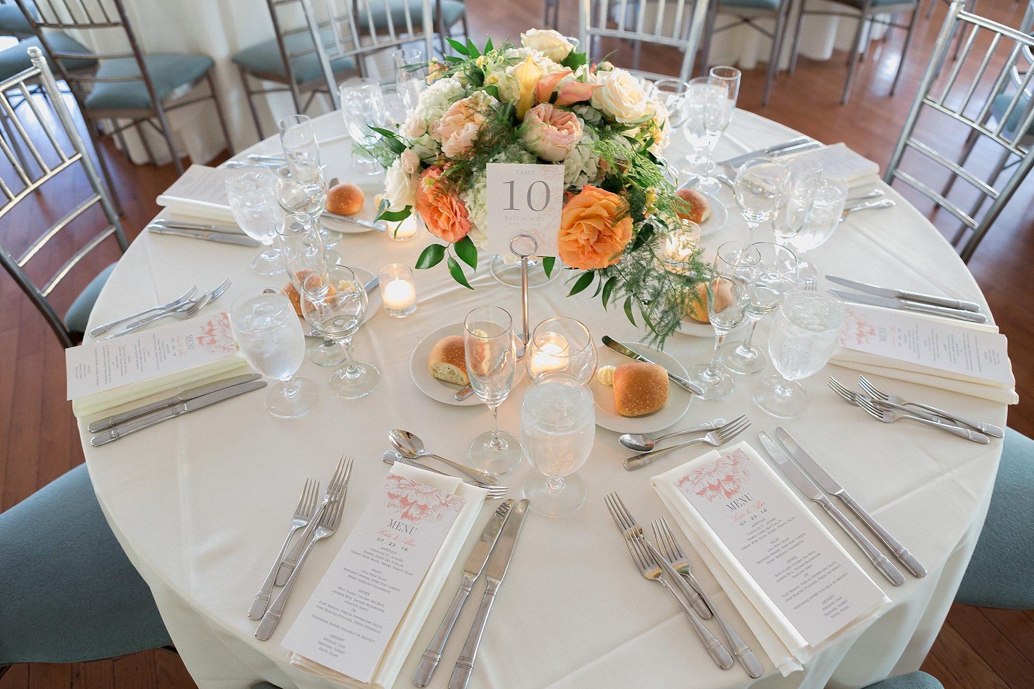 Wedding Reception Styling at Battery Garden photographed by Susan Shek Wedding Photography in New York City, NY.