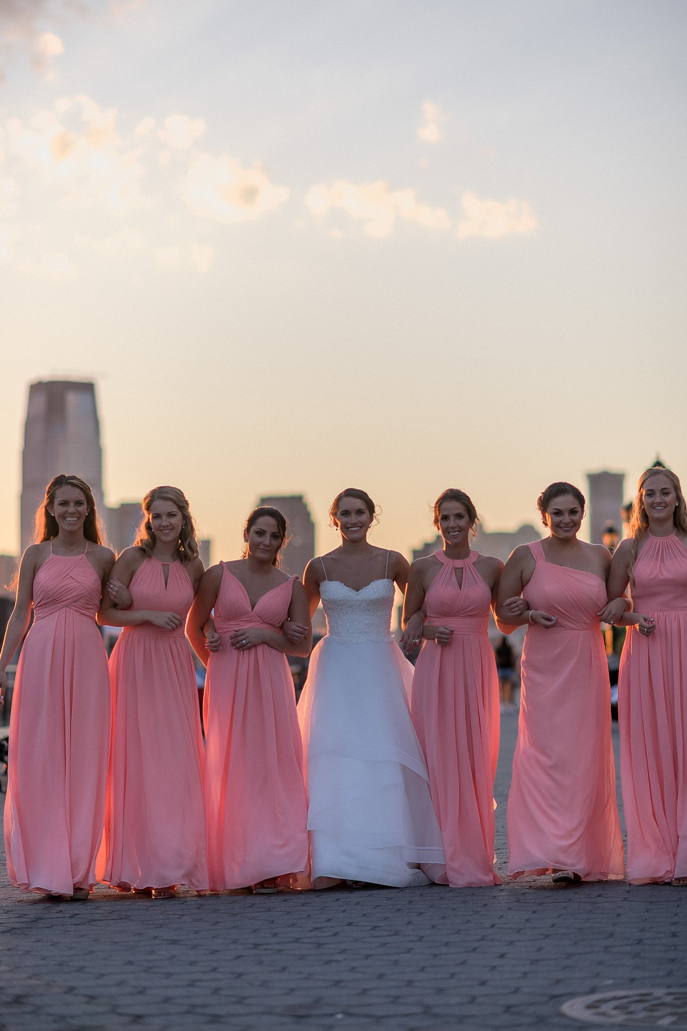 Bride and her bridesmaids, photographed by Susan Shek Wedding Photography in New York City, NY.