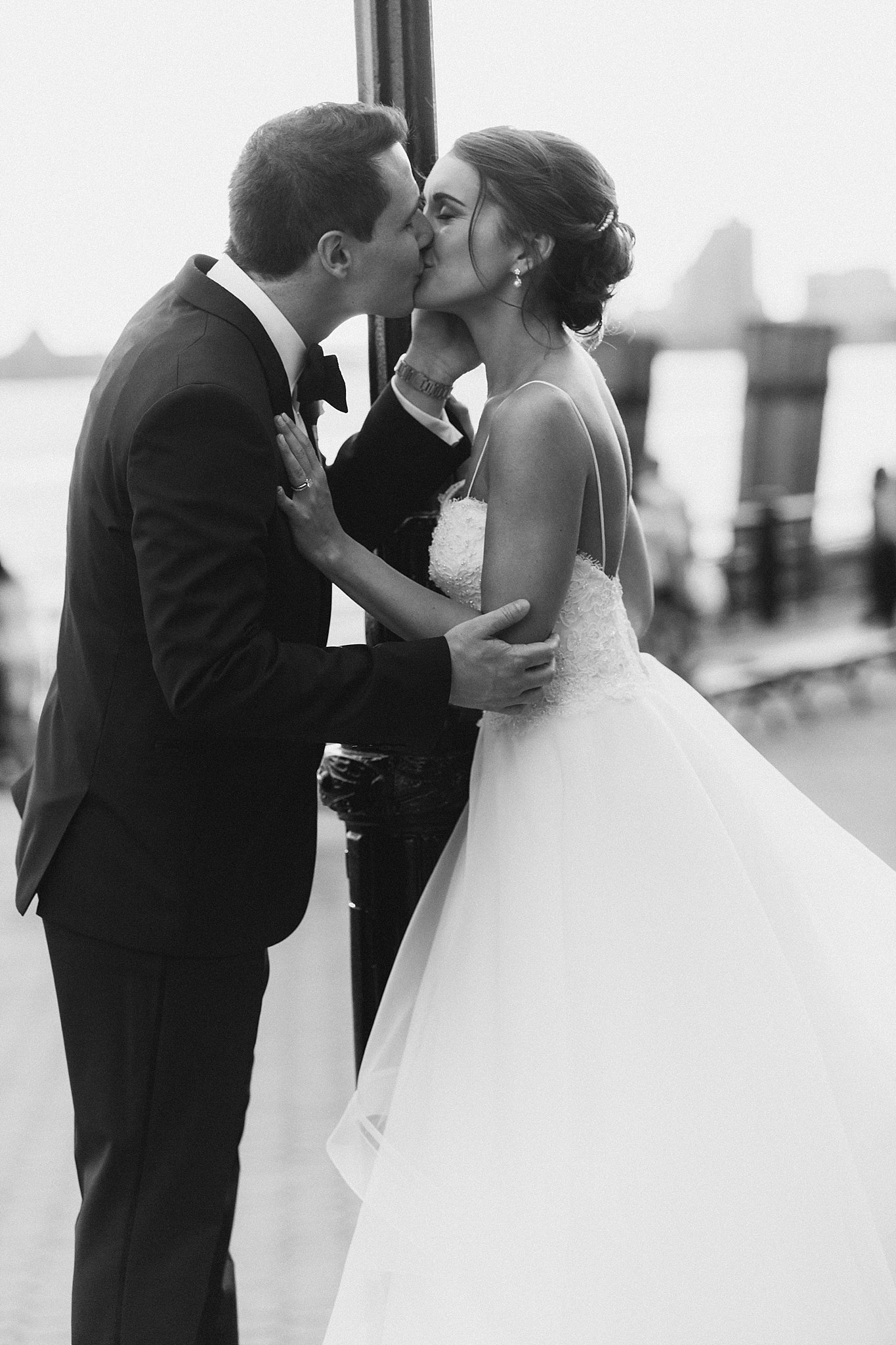Married Couple's Kiss, , photographed by Susan Shek Wedding Photography in New York City, NY.