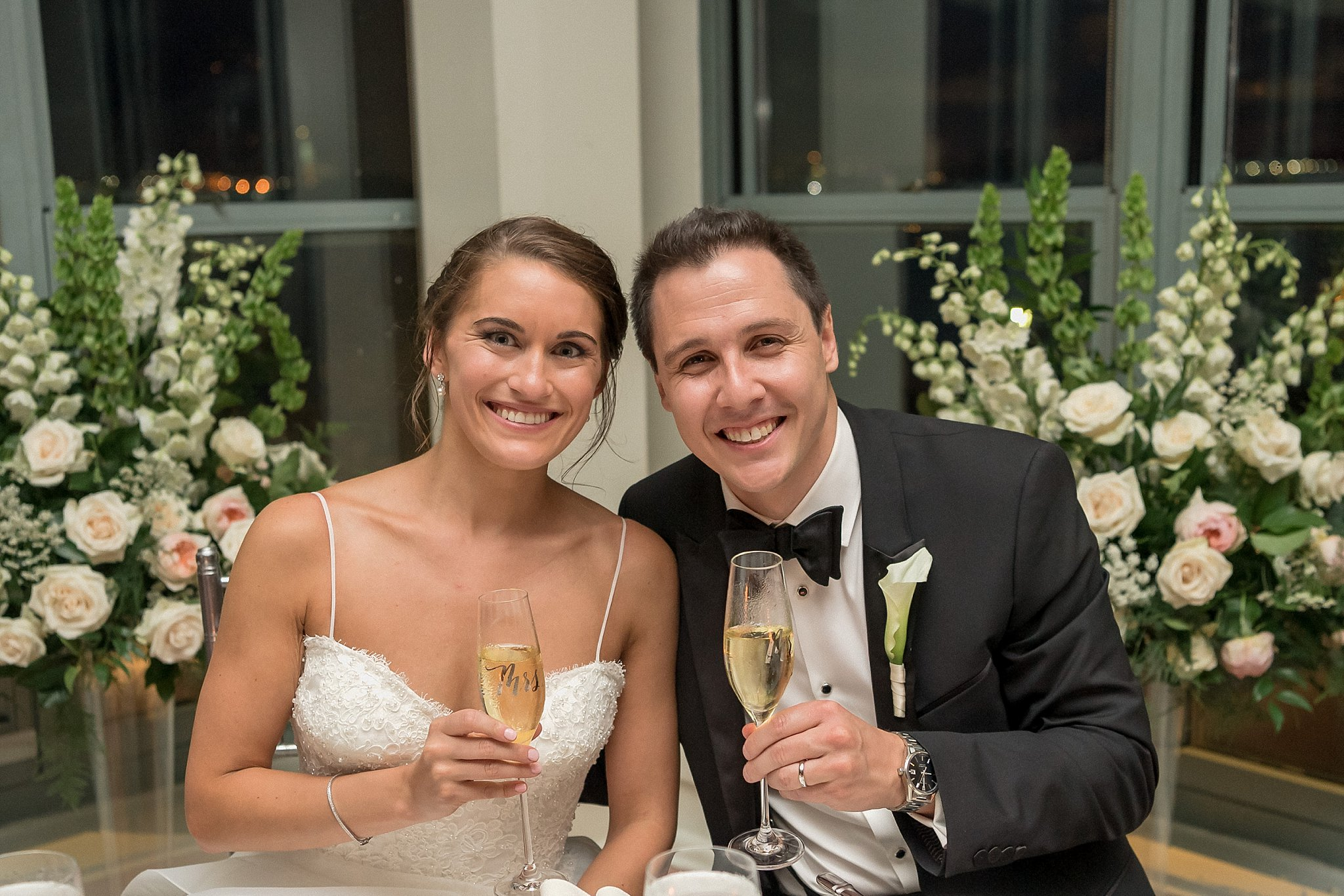 Married Couple Shot at their Battery Garden Reception, photographed by Susan Shek Wedding Photography in New York City, NY.