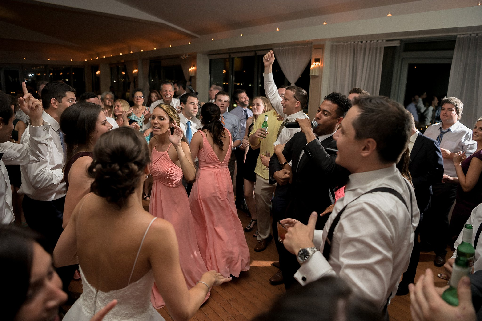 Wedding Reception Scene at Battery Gardens Photographed by Susan Shek Photography
