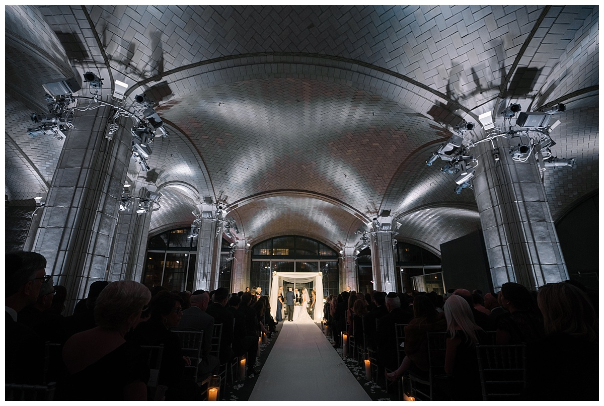 A jewish wedding ceremony at Guastavinos in New York City.