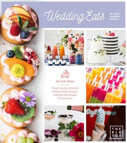 2018 wedding trends The food trend