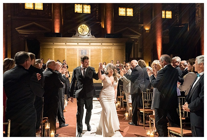 bride and groom at capitale new york wedding