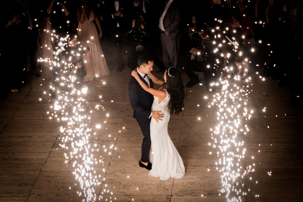 A first dance as a husband and wife during a wedding reception at Cipriani Wall Street in New York City.