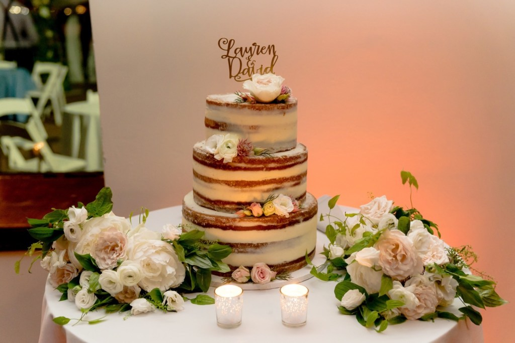 Wedding cake at a Liberty Warehouse, Brooklyn New York.