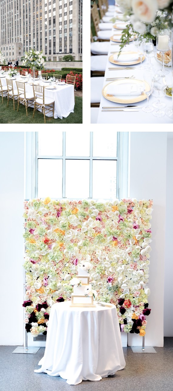 cake details in front of a floral backdrop