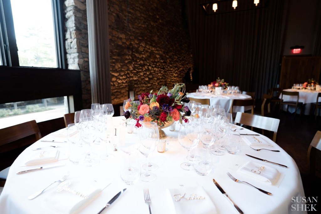 whole table shot at blue hill stone barns