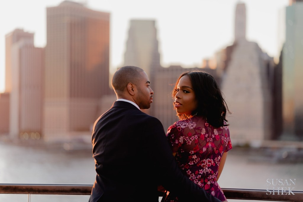 1 Hotel Brooklyn Bridge Rooftop Engagement Photos