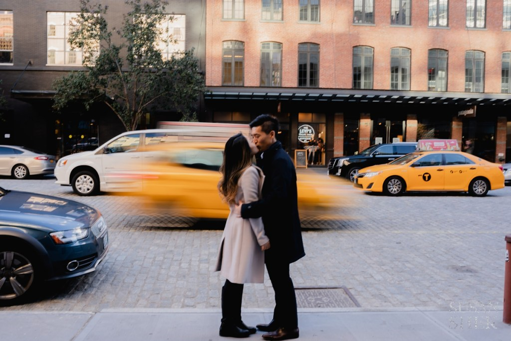 A couples photo shoot in Meatpacking District