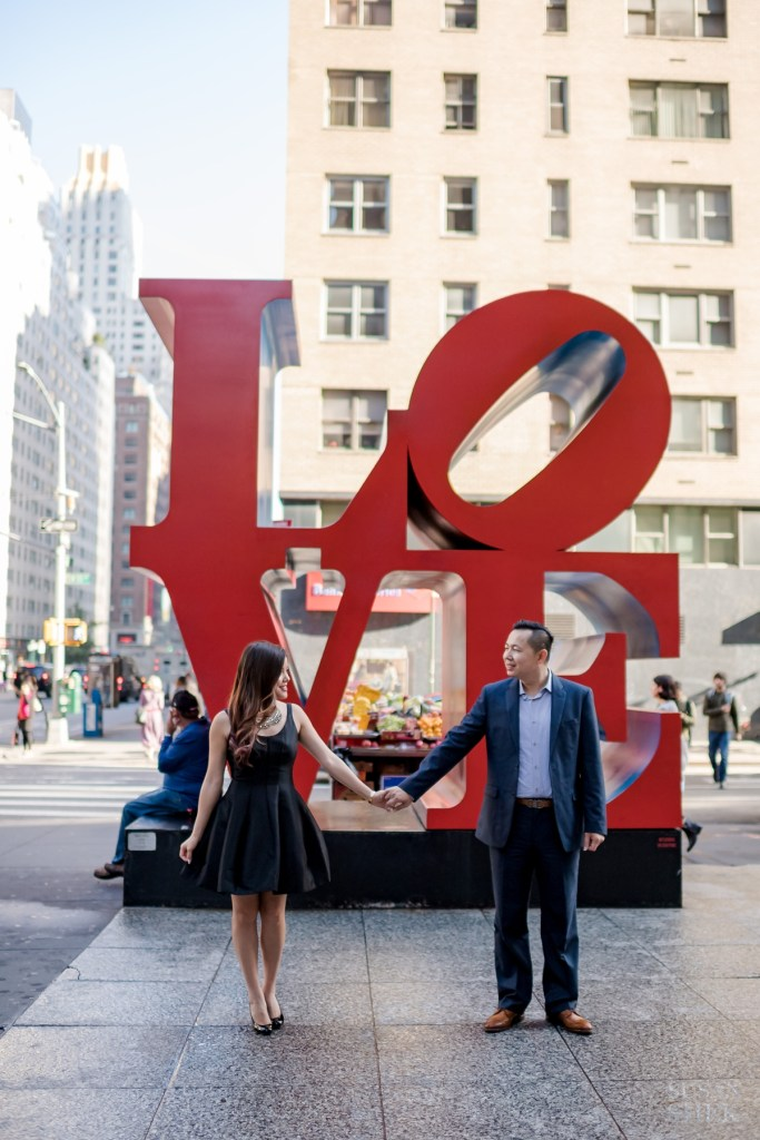 Standing in front of the Love Sign in Midtown Manhattan.