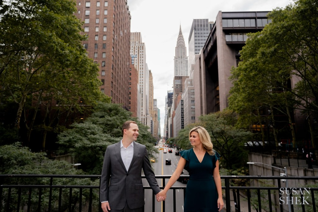 tudor city engagement shoot