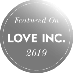 Love Inc Magazine Badge