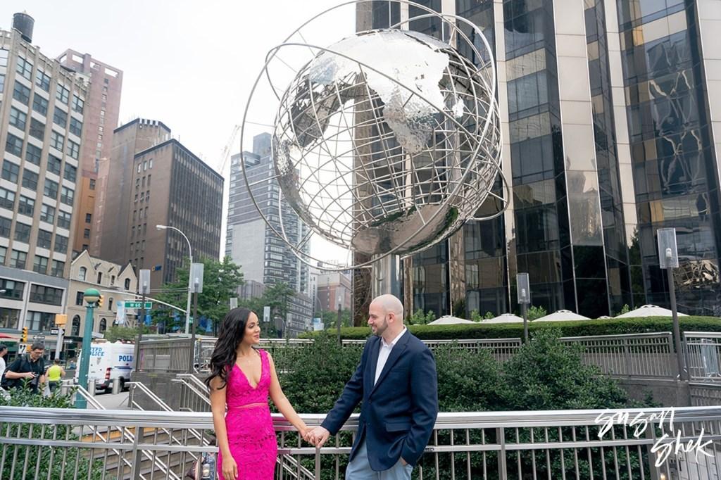 Columbus Circle, Engagement Shoot, NYC Engagement Photographer, Engagement Session, Engagement Photography, Engagement Photographer, NYC Wedding Photographer