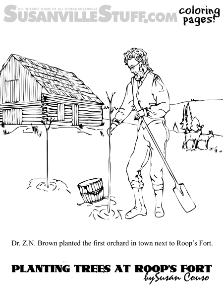 Coloring Pages: Susanville's First Orchard