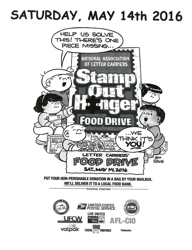 Stamp Out Hunger Food Drive Saturday, May 14th