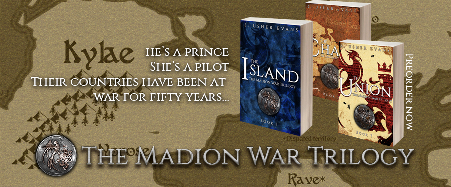 The Madion War Trilogy is a fantasy romance set in a WWII-esque world torn apart by war